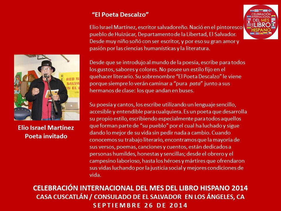 Elio Martinez Mes del Libro Hispano 2014