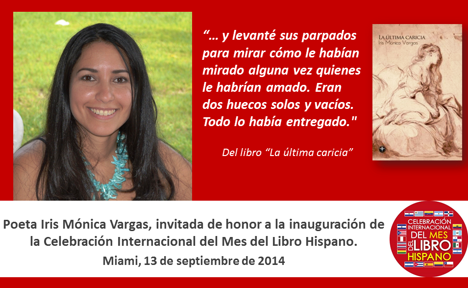 Iris Monica Vargas Mes del Libro Hispano