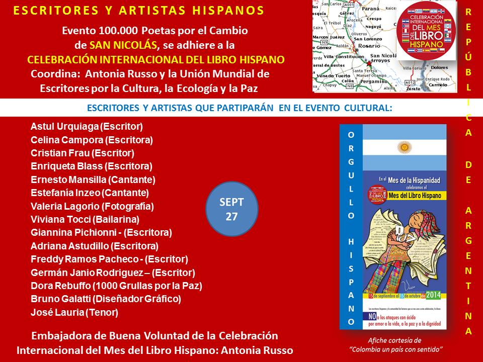 Mes del Libro Hispano Evento San Nicolas Argentina