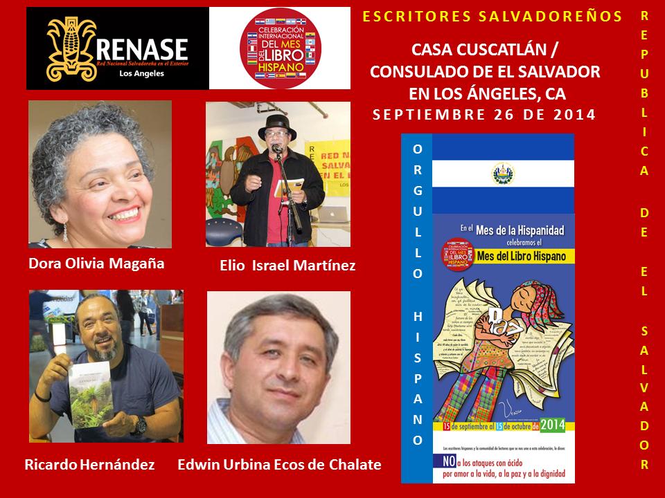 Mes del libro hispano 2014 Escritores del Salvador