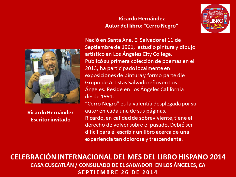 Ricardo Hernández Mes del Libro Hispano