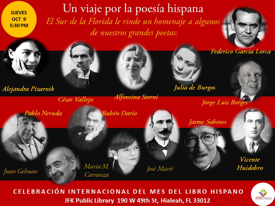 En homenaje un viaje por la poesía hispana Mes del Libro Hispano JFK Public Library
