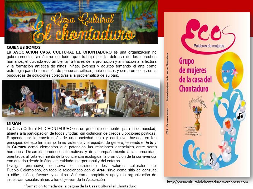 Mes del Libro Hispano Cali y la Casa Cultural El Chontaduro