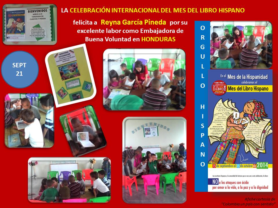 Reyna García Pineda, su trabajo con niños en Honduras, en el Ministerio de Restauración. Jornada de Lectura.